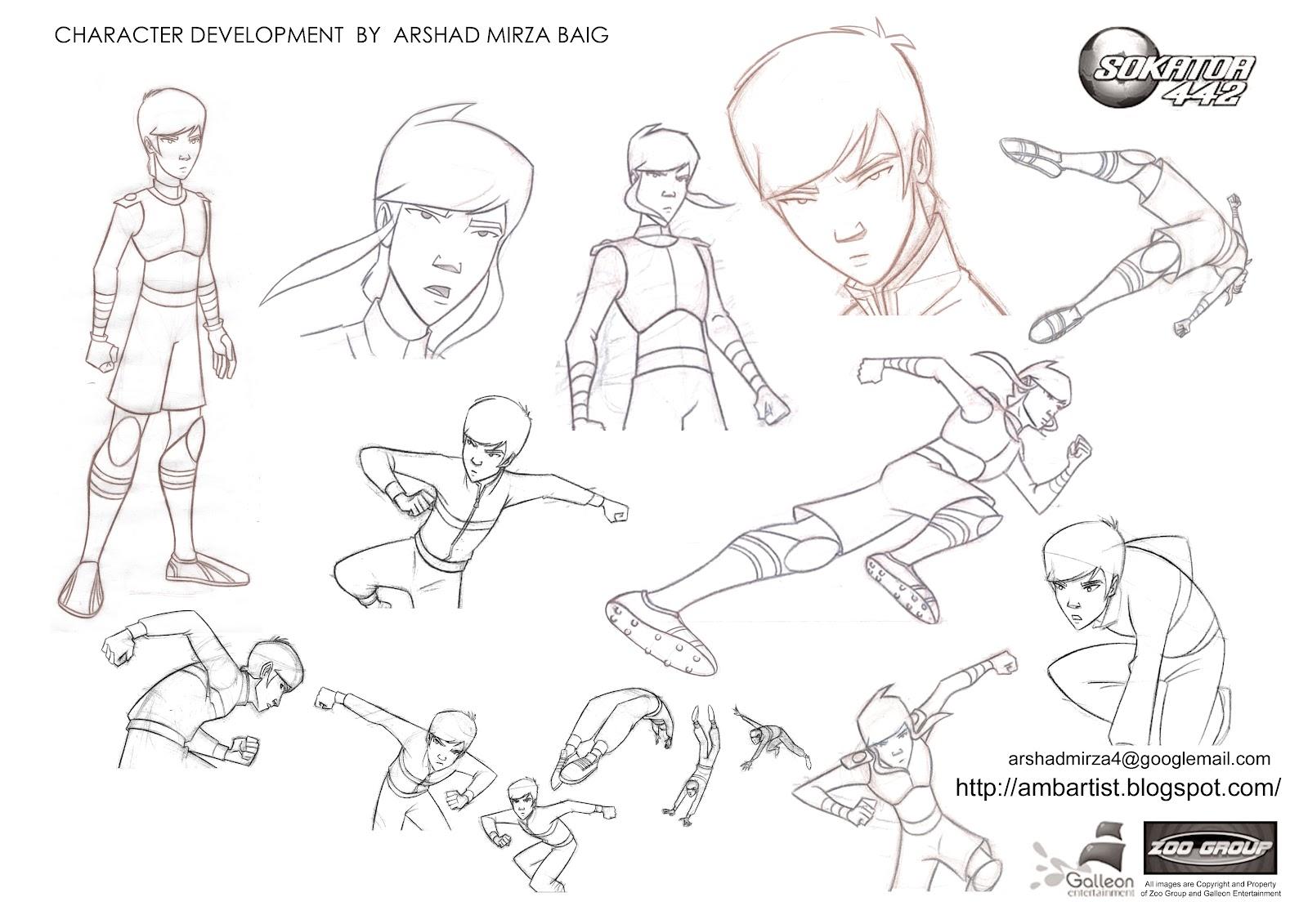 Character Development In Design : Arshad mirza baig portfolio character development art