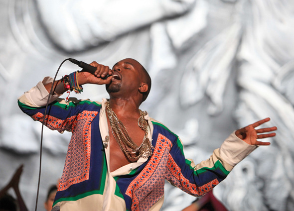 There was a long video clip of Kanye West's Coachella performance floating around a few weeks ago.  Here's the audio for the full performance.