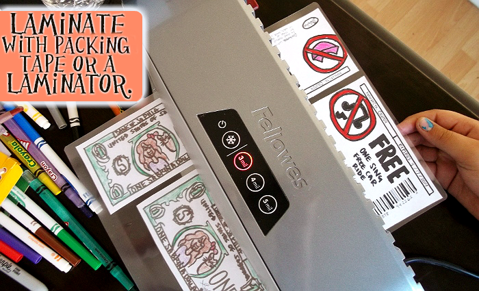 Use a laminator or packing tape to 'seal' coupons for keepsakes and reuse.