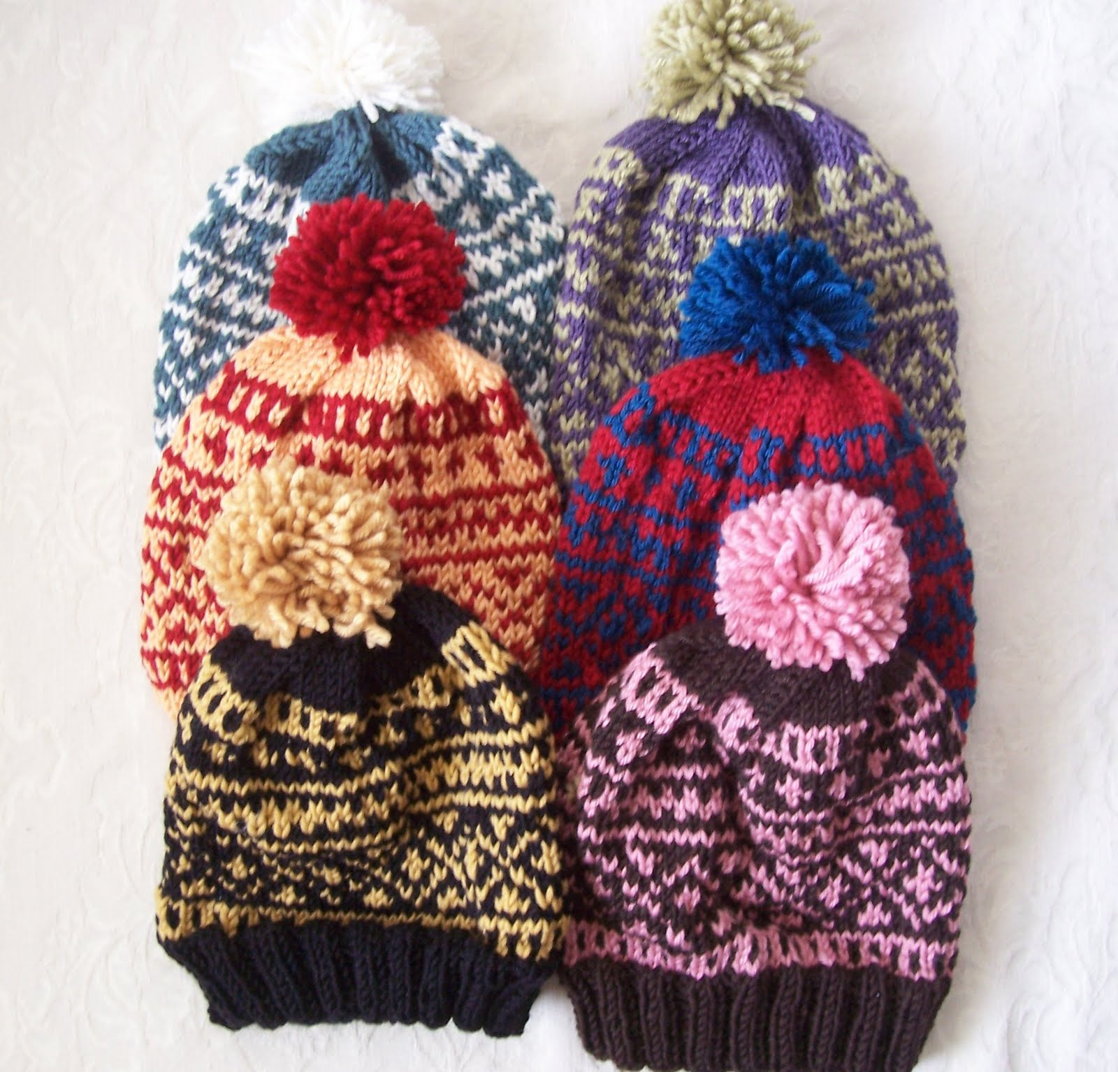 Fair Isle Hat Knitting Pattern : Knitting for Peace: Six Fair Isle Baby Hats