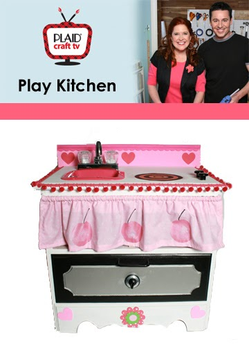 Cake Tv Show Crafts : Cathie Filian: Plaid Craft TV: Kids Play Kitchen and Toy Cake