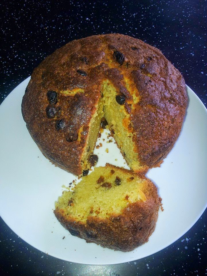 My weekend bake ...... Rum and Raisin Cake