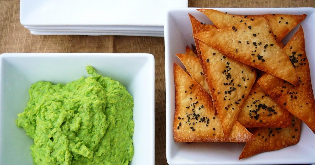 ... Twenty: 80--- Edamame Dip with Sea Salt & Cracked Pepper Wonton Chips