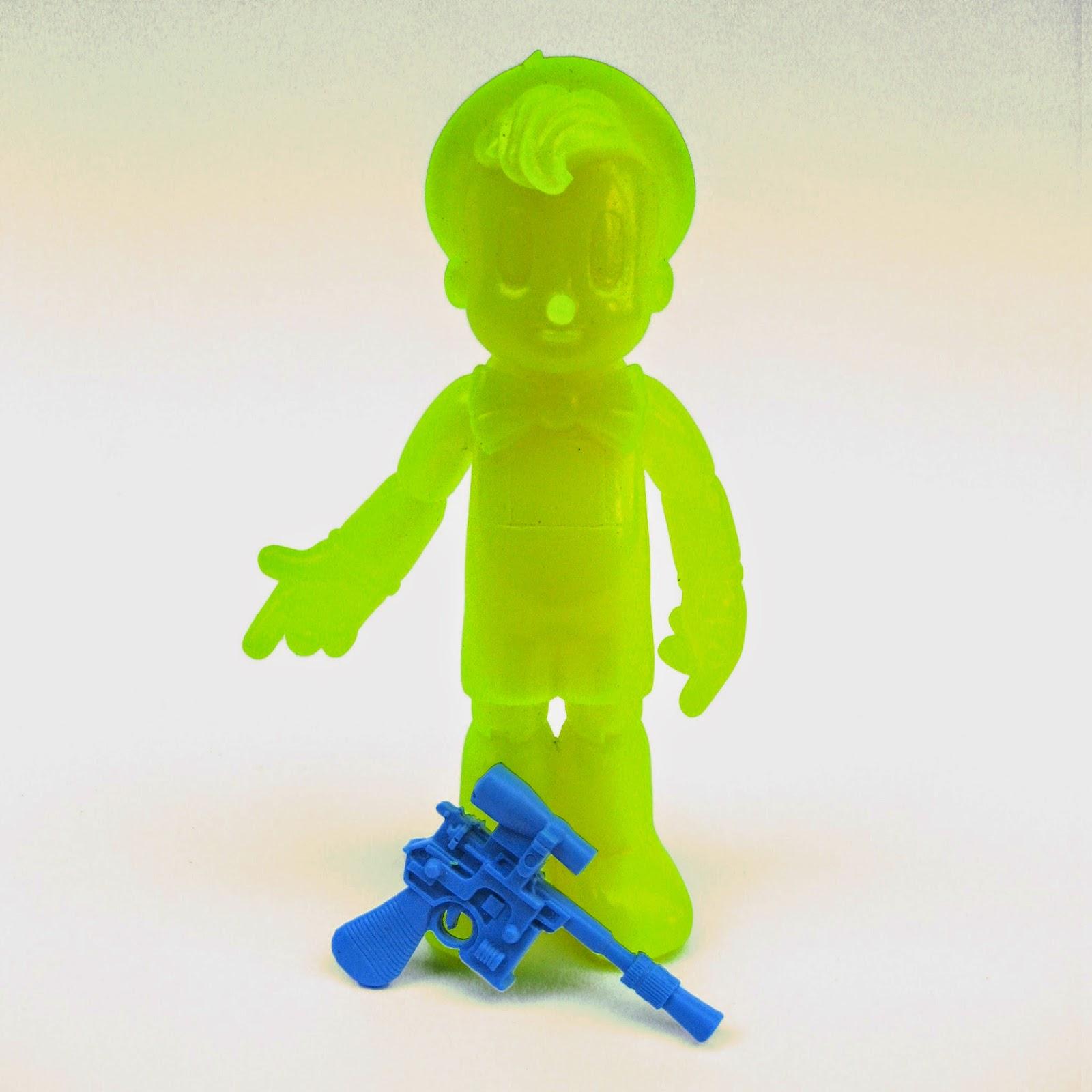 """Blacklight Yellow"" Edition Astronocchio Resin Figure by Dave Bondi"