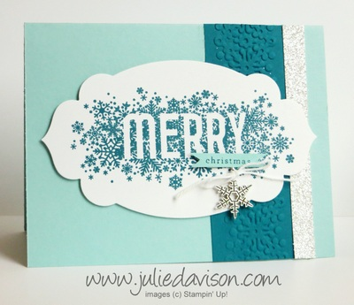 Stampin' Up! Seasonally Scattered Christmas card