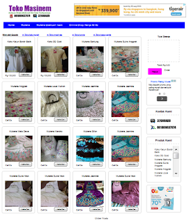 Template toko online blogspot dengan shopping cart rupiah