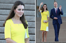 Kate Middleton Yellow Dress In Australia Edin
