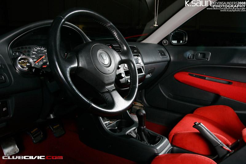 日本車, チューニングカー, ホンダ, Honda civic coupe, VTEC, D15, B16, kultowy, piękny, japoński samochód, sportowy, usportowiony, JDM, tuning, modified, tuned, wnętrze, interior, 6, VI, szósta generacja