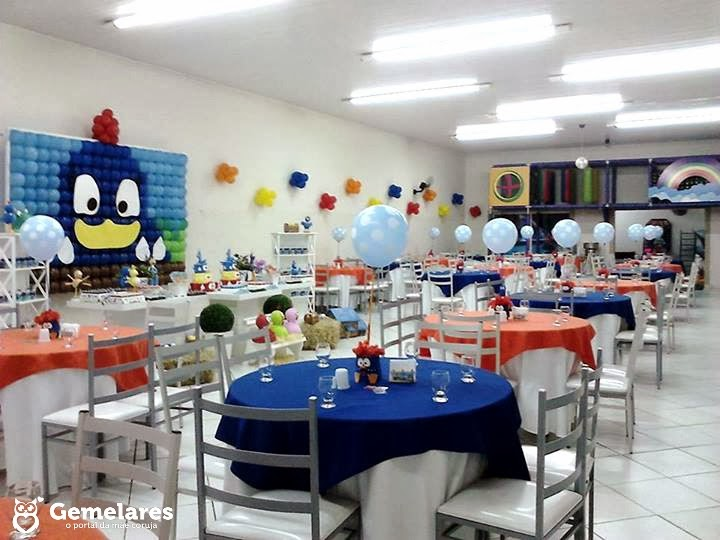 Festa Galinha Pintadinha: Decoração para gêmeos