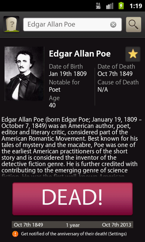 a biography of edgar allan poe an american author poet editor and literary critic considered part of Edgar allan poe edgar allan poe (born edgar poe january 19, 1809 - october 7, 1849) was an american author, poet, editor and literary critic, considered part of the american romantic movement.