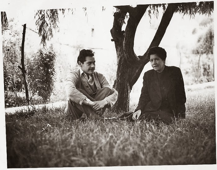Jaime Saenz y la tía Esther, La Paz, años 50