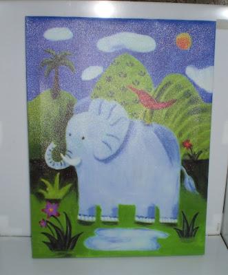 Festett elefánt kép