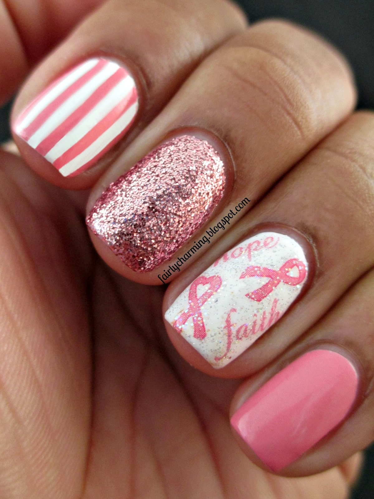 Breast Cancer Nail Designs