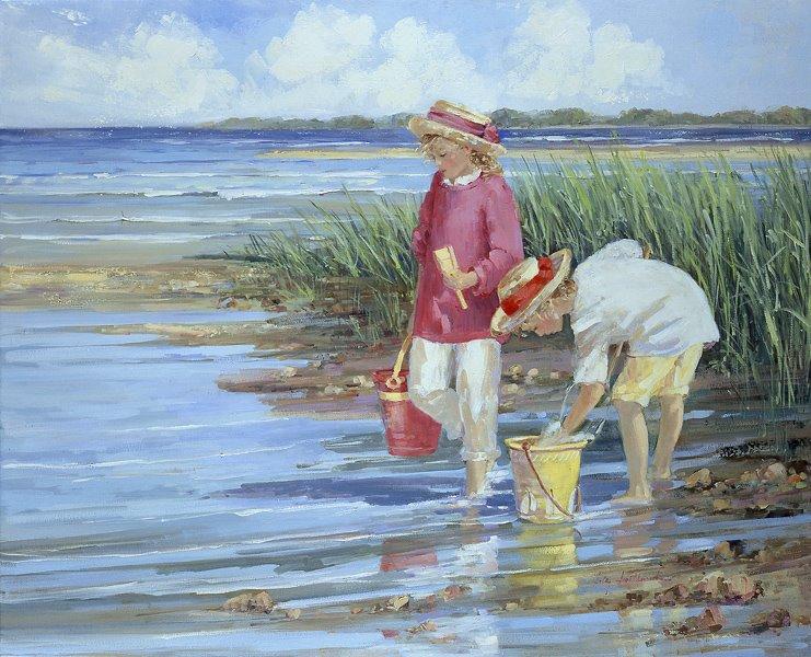 Assez Il mondo di Mary Antony: I bambini sulla spiaggia di Sally Swatland JP57