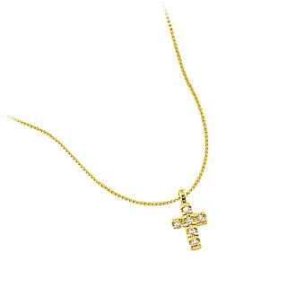 colar cruz semi-joia