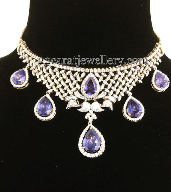 Purple Shades Sapphire Diamond Set