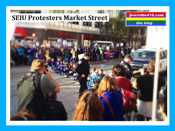 SEIU Protest March Market Street