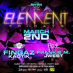 Element Friday at Hard Rock