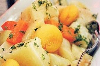 Kayısılı patates salatası tarifi