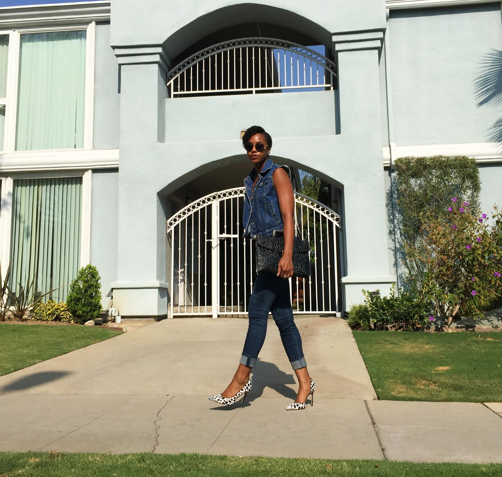 fashion blogger Marquise C Brown denim ootd