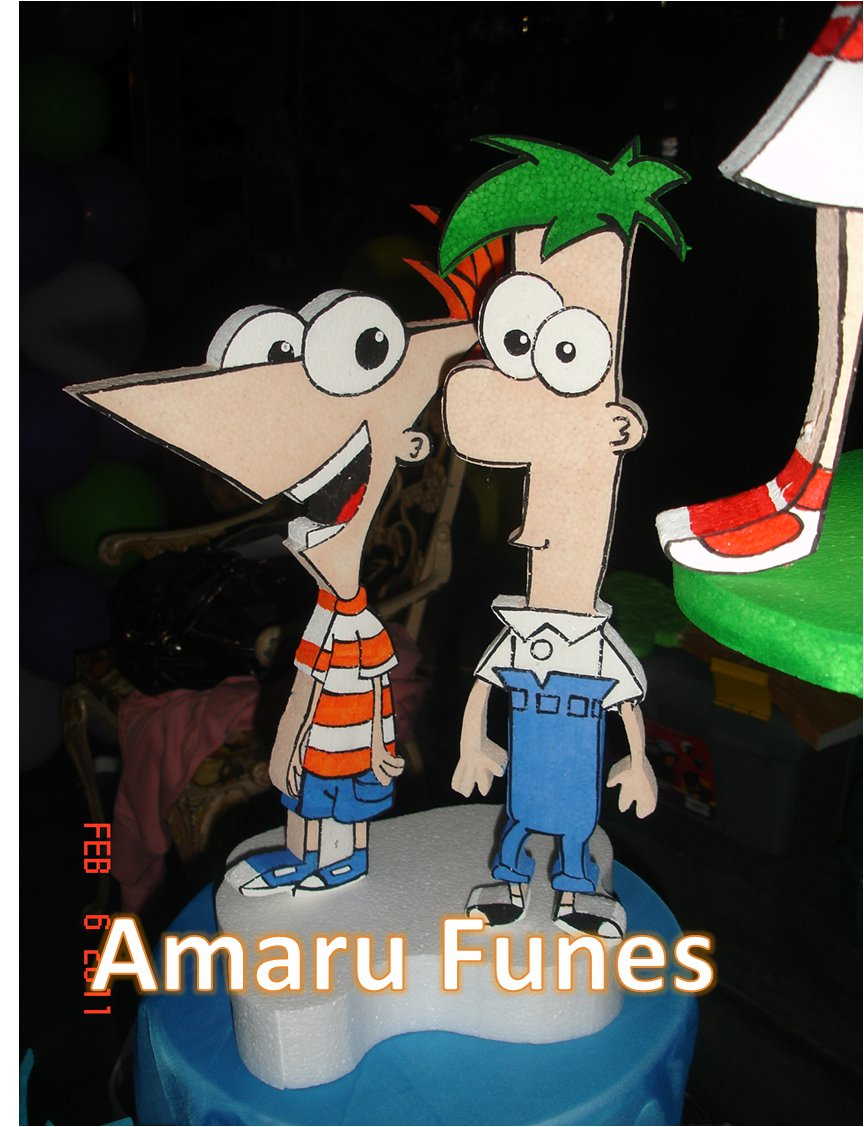 AMARU FUNES DECORACIONES: PHINEAS Y FERB MASA FLEXIBLE, DISPENSADOR Y ...