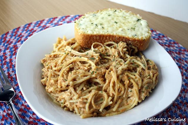 crock pot, chicken, spaghetti, slow cooker