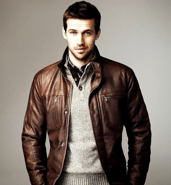MENS FASHION  DARK BLUE COLOUR PANTS BROWN LEATHER JACKET COMBINATION FOR MEN - Menu0026#39;s Clothing ...