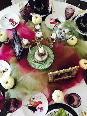 witch tablescape, Witchy tablescape, Halloween decorations, The Style Sisters