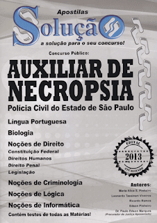 Apostila para Auxiliar de Necropsia Concurso Polcia Civil So Paulo &#8211; Edital 2013