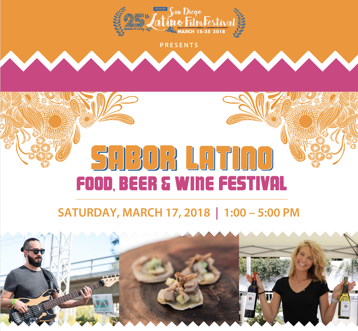 Save on passes & Enter to win VIP tickets to Sabor Latino Festival - March 17!