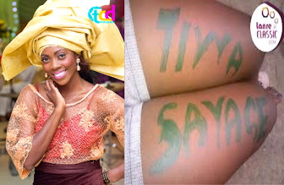 tiwa savage tattoo