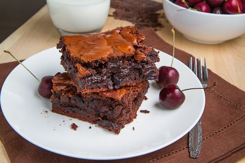 Roast Cherry Dark Chocolate Brownie Sundaes on Closet Cooking