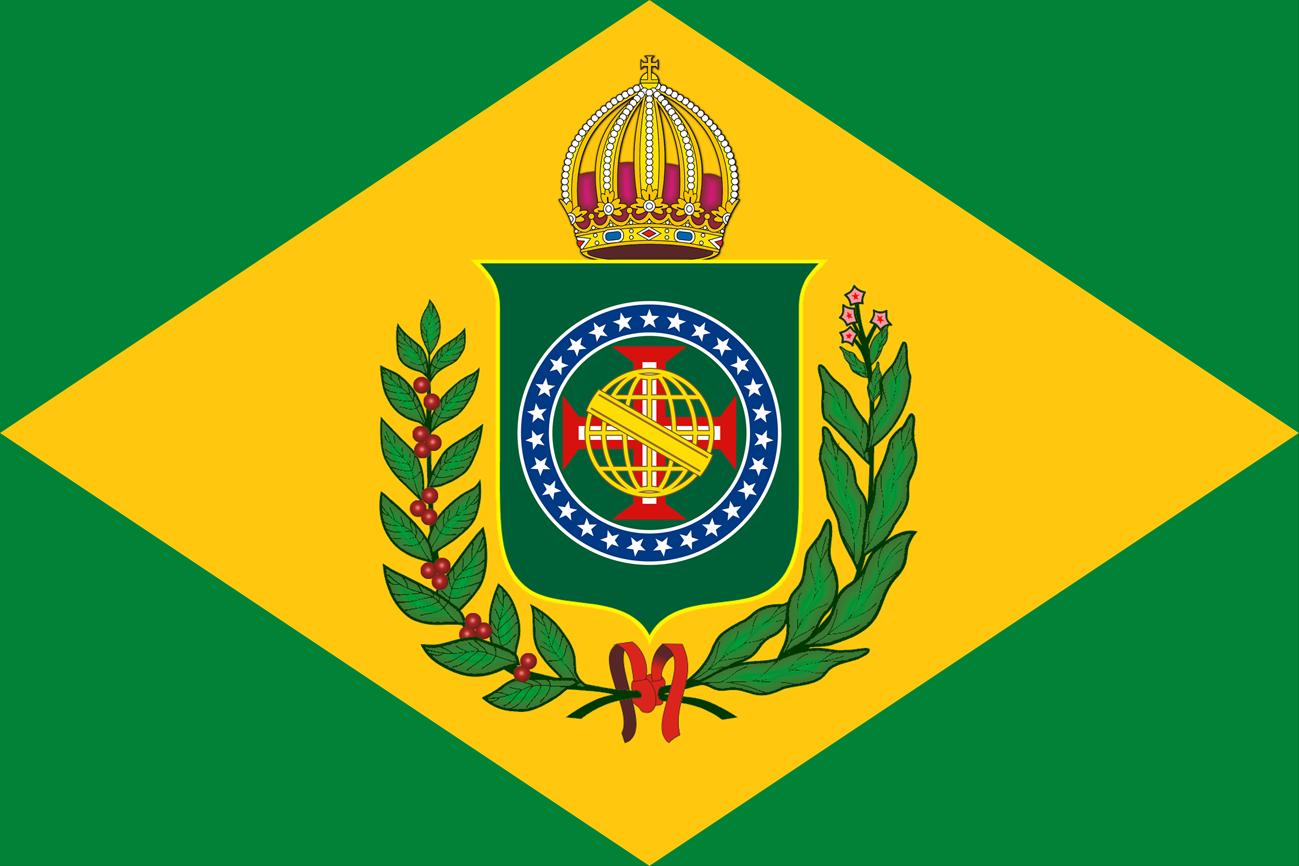 Bandeira do Brasil Imperial - Modelo (10 X 15) - Crédito da Imagem: Emanuel Nunes Silva