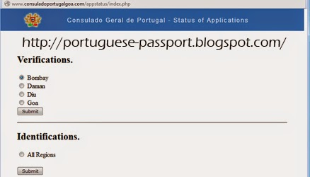Portuguese Passport Application Status