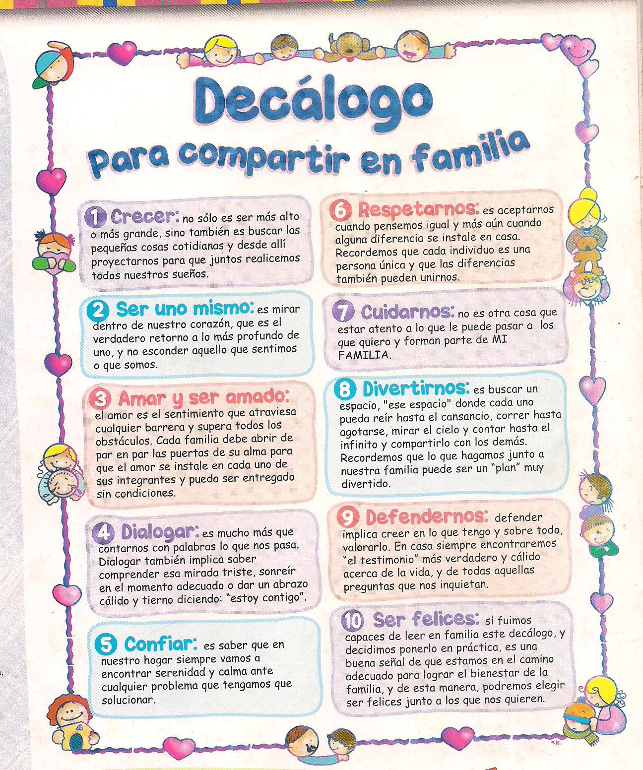 MENSAJES Y CUCHITURAS PARA LAS FAMILIAS