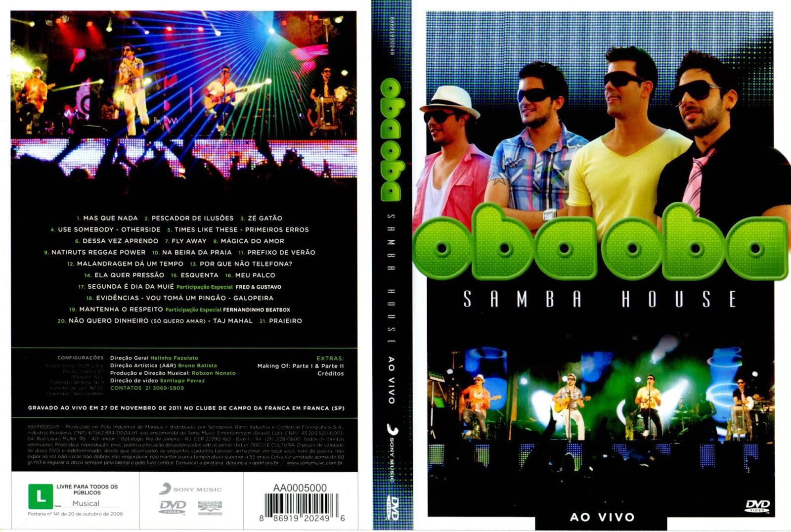 Oba Oba Samba House Ao Vivo No Rio DVD-R