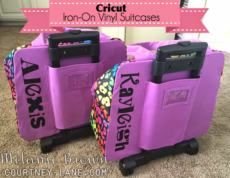 Cricut Iron-On Vinyl Suitcases for the kids