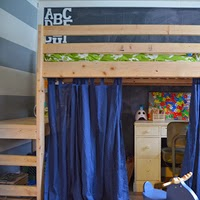 http://www.revamphomegoods.com/2013/12/kids-shared-room-diy-loft-bed.html