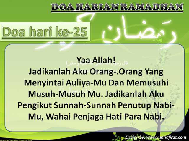 Doa Hari Ke-25