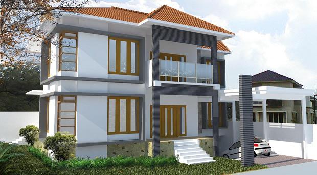 gambar rumah hook 2 lantai minimalis