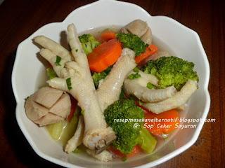 Resep Sop Ceker Bening Sayuran Praktis