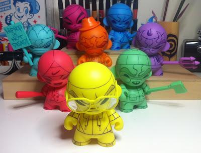 kaNO Sketch Series 1 - Custom Mini Munny Vinyl Figuress