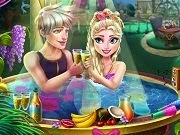 Frozen Elsa Jacuzzi Celebration