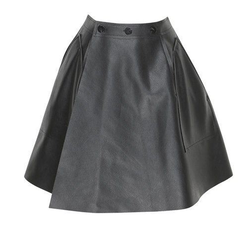 Suede Flare Skirt