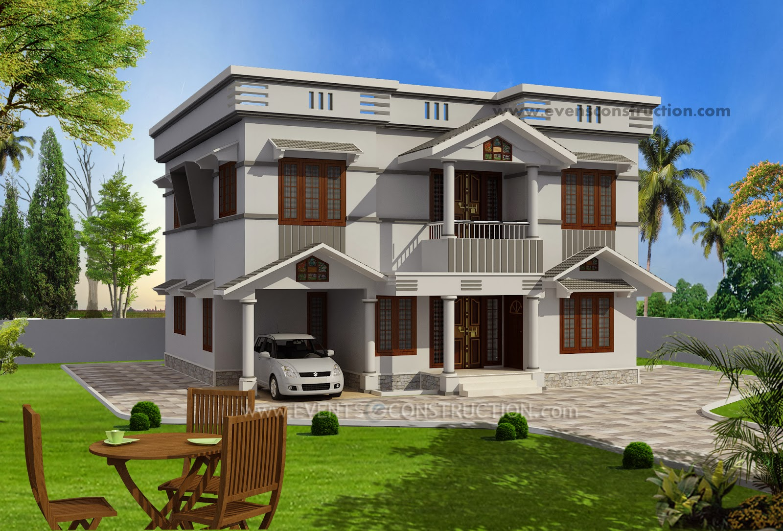 Evens Construction Pvt Ltd Beautiful Flat Roof House