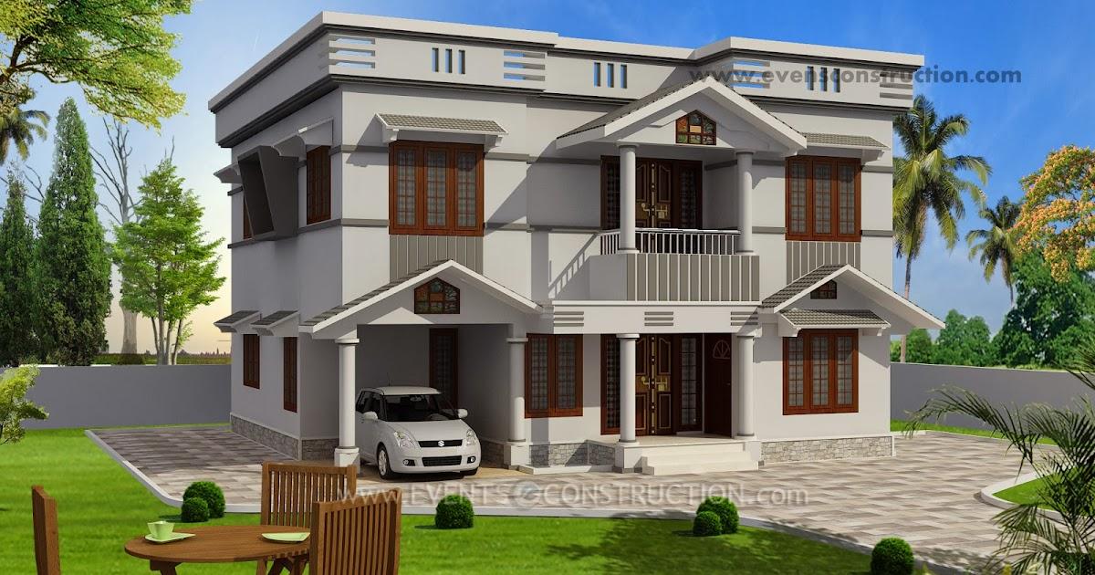 Evens Construction Pvt Ltd Beautiful Flat Roof House