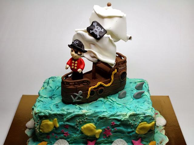 Pirate Ship Birthday Cake - London Cakes