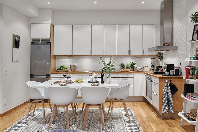 Decorar salon cocina saln con cocina integrada with for Como amueblar cocina y salon juntos