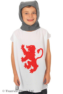 Kids One Size Black Knight Tabard Costume from Theatrical Threads