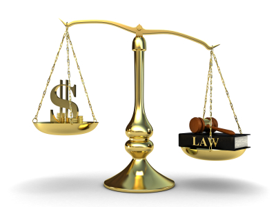 Scales of Justice with Money